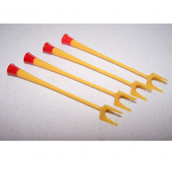 Haushalt - servieren - Besteck - Käsespieße - 12er Set - 4 x rot-gelb