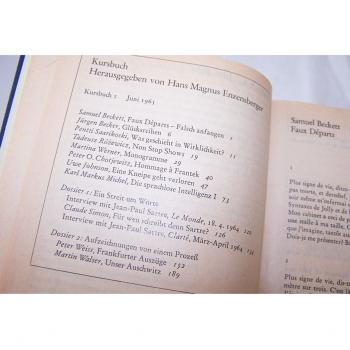 Literatur - Sachbücher - Hans Magnus Enzensberger (Hrsg.): Kursbuch 1 - 10 und 11 - 20, Inhaltsverzeichnis im Band 1