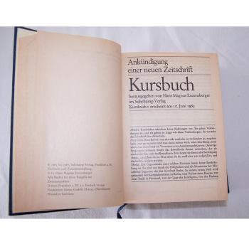 Literatur - Sachbücher - Hans Magnus Enzensberger (Hrsg.): Kursbuch 1 - 10 und 11 - 20, Ankündigung