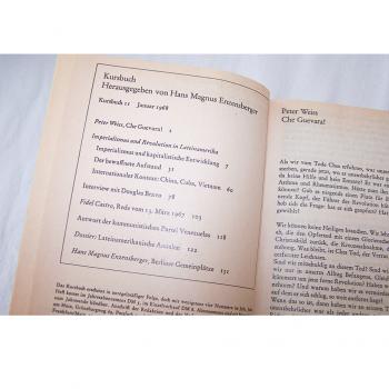 Literatur - Sachbücher - Hans Magnus Enzensberger (Hrsg.): Kursbuch 1 - 10 und 11 - 20, Inhaltsverzeichnis im Band 2