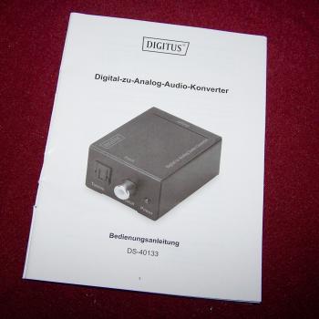 Audio-Video-Photo - Digital-zu-analog-Audio-Konverter - Bedienungsanleitung