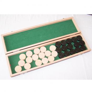 Spiele - Ravensburger Mühle und Dame - Spielsteine-Box geöffnet