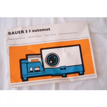 Audio-Video-Photo - Diaprojektor Bauer S 3 automat - Bedienungsanleitung