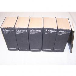 Literatur - Belletristik - Akzente - fünfbändige Gesamtausgabe vom Verlag Zweitausendeins