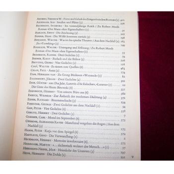 Literatur - Belletristik - Akzente - fünfbändige Gesamtausgabe vom Verlag Zweitausendeins - Inhaltsverzeichnis Band 1 Teil1