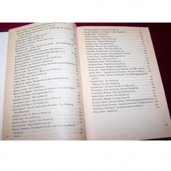 Literatur - Belletristik - Akzente - fünfbändige Gesamtausgabe vom Verlag Zweitausendeins - Inhaltsverzeichnis Band 1 Teil 2
