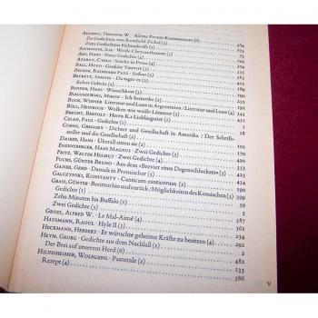Literatur - Belletristik - Akzente - fünfbändige Gesamtausgabe vom Verlag Zweitausendeins - Inhaltsverzeichnis Band 2 Teil 1