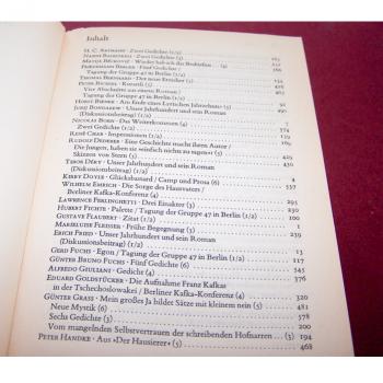 Literatur - Belletristik - Akzente - fünfbändige Gesamtausgabe vom Verlag Zweitausendeins - Inhaltsverzeichnis Band 4 Teil 1