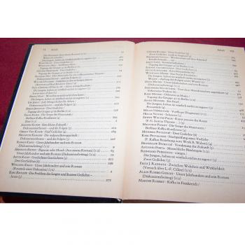 Literatur - Belletristik - Akzente - fünfbändige Gesamtausgabe vom Verlag Zweitausendeins - Inhaltsverzeichnis Band 4 Teil 2