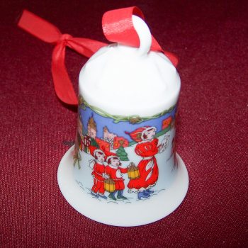 Haushalt - Dekoration - Hutschenreuther Weihnachtsglöckchen 1996 - Mutter mit Kindern
