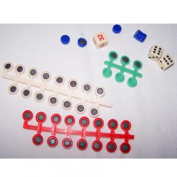 Spiele - Klassische Brettspielsammlung für die Reise von Simba - magnetische Spielsteine