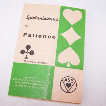 Spiele - ASS Patience-Spielkarten - Spielanleitung