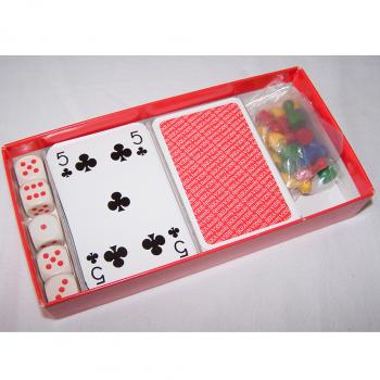 Spiele - IKEA Reise-Spielebox - Karten, Würfel und Spielsteine