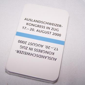 Spiele - Zuger Jasskarten - Auslandsschweizer Kongress 2000