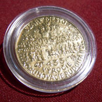 Souvenirs - Abzeichen und Medaillen - Rudolphus - Krönungsfeierlichkeiten Bratislava 2005 - Rückseite