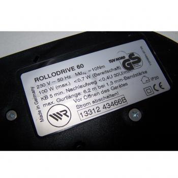 Haushalt - Messen & Regeln - Elektrischer Rollladenwickler Rollodrive 60 - Typenschild