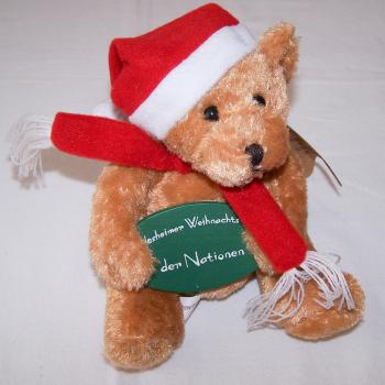 Haushalt - Dekoration - Bär mit Nikolausmütze vom Rüdesheimer Weihnachtsmarkt der Nationen