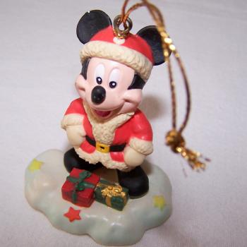Haushalt - Dekoration - Micky Maus im Weihnachtskostüm als Christbaumanhänger