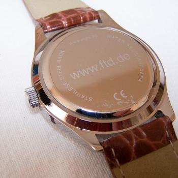 Schmuck - Uhren - Armbanduhr Financial Times Deutschland - Inschriften Rückseite